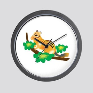 Cute Chipmunk in Tree Wall Clock