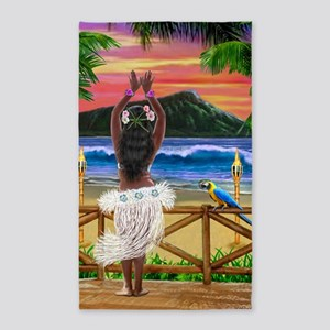 HAWAIIAN SUNSET HULA 3'x5' Area Rug
