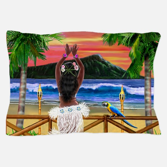 HAWAIIAN SUNSET HULA Pillow Case