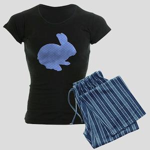 Blue Polka Dot Silhouette Easter Bunny Pajamas