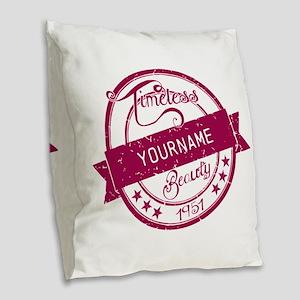 1951 Timeless Beauty Burlap Throw Pillow
