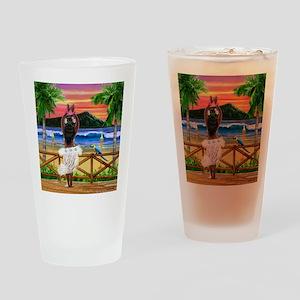HAWAIIAN SUNSET HULA Drinking Glass