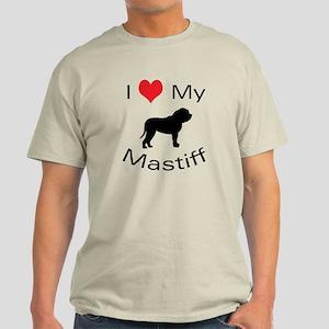 I Heart My Mastiff Light T-Shirt