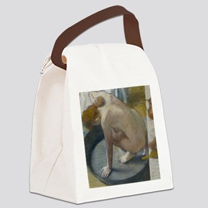 The tub by Edgar Degas Canvas Lunch Bag