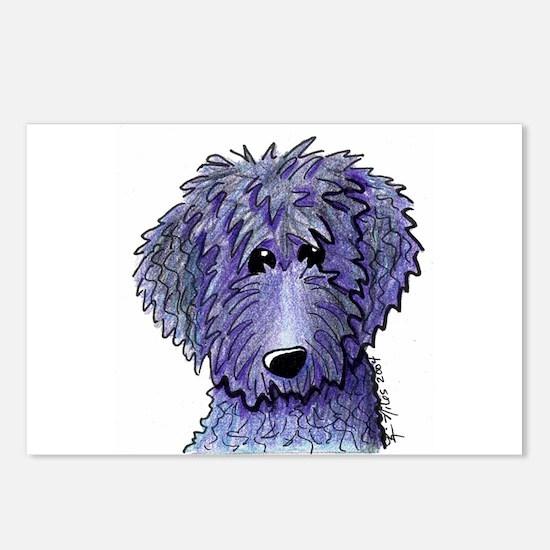 Purple BLACK DOODLE Postcards (8)
