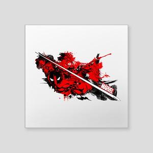 "Deadpool Slice Square Sticker 3"" x 3"""