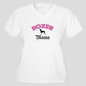 Boxer Mama Women's Plus Size V-Neck T-Shirt