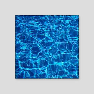 "Pool water Square Sticker 3"" x 3"""