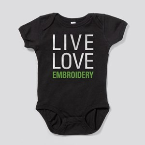 Live Love Embroidery Baby Bodysuit