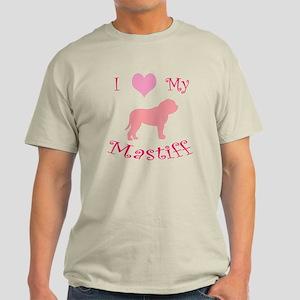 pink heart mastiff Light T-Shirt