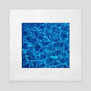 Pool water Queen Duvet