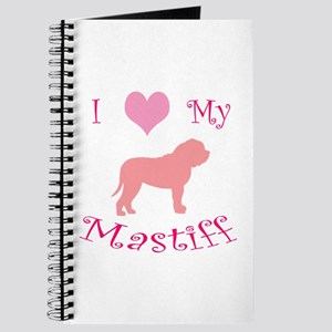 pink heart mastiff Journal