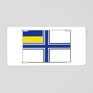 Flag of Ukraine Naval Ensig Aluminum License Plate