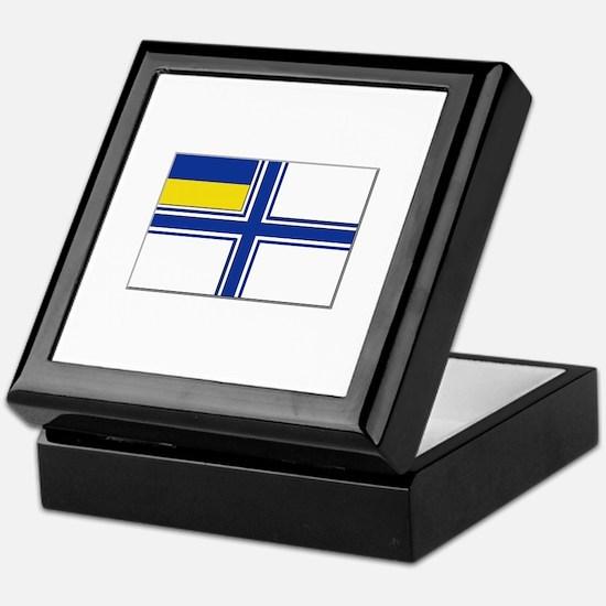 Flag of Ukraine Naval Ensign Keepsake Box