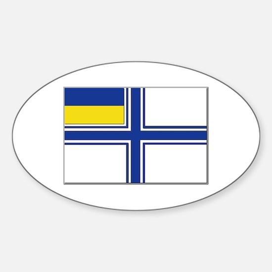 Flag of Ukraine Naval Ensign Sticker (Oval)