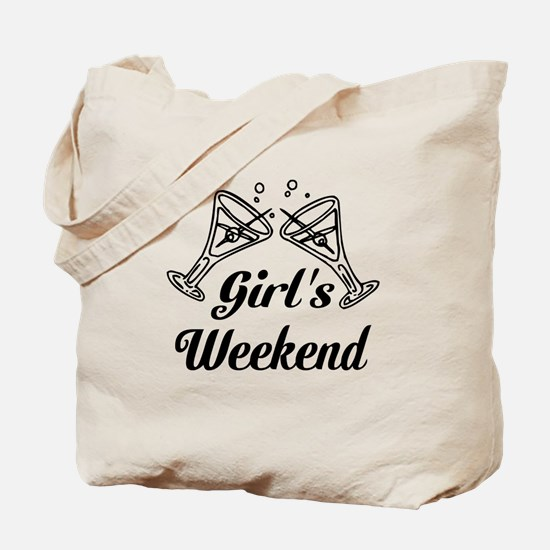 Girls Weekend Martini Glass Tote Bag