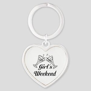 Girls Weekend Martini Glass Keychains