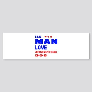 Real Man Love American Water Span Sticker (Bumper)