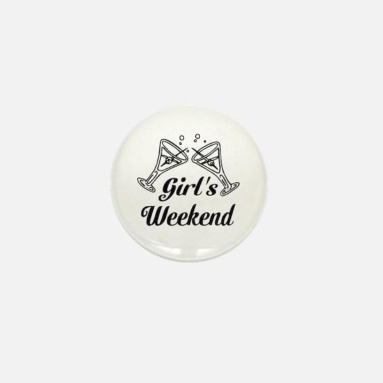 Girls Weekend Martini Glass Mini Button