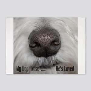 I love my Dog male nose snout westie 5'x7'Area Rug
