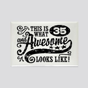 35th Birthday Rectangle Magnet