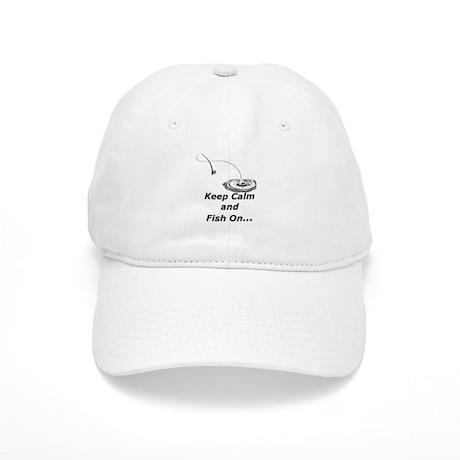Keep Calm and Fish On Baseball Cap