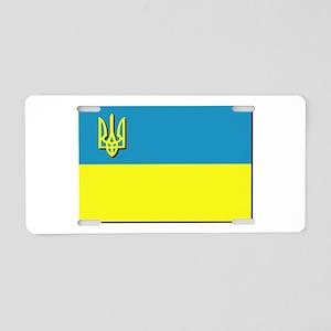 Flag of Ukrainian Trident Aluminum License Plate