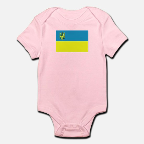 Flag of Ukrainian Trident Infant Bodysuit