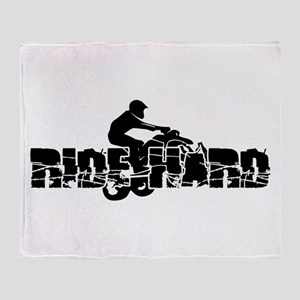 ATV Ride Hard Throw Blanket