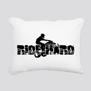 ATV Ride Hard Rectangular Canvas Pillow