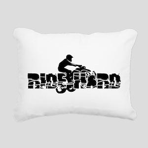 ATV Ride Hard Rectangular Canvas Pillow