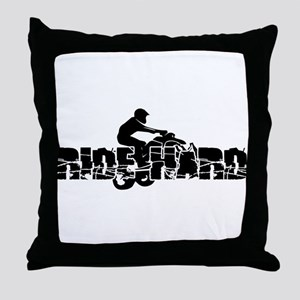 ATV Ride Hard Throw Pillow