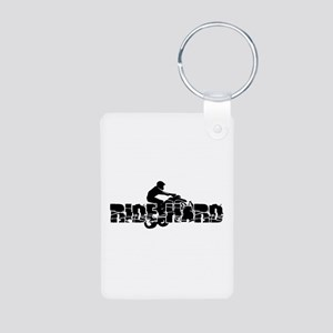 ATV Ride Hard Aluminum Photo Keychain