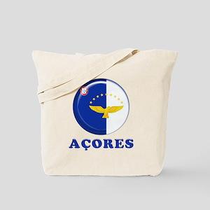 Azores islands flag Tote Bag