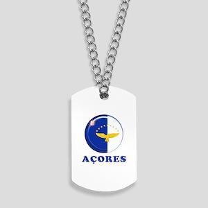 Azores islands flag Dog Tags