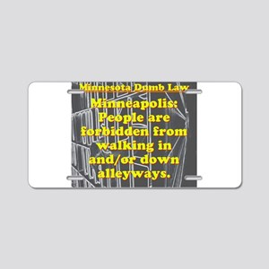 Minnesota Dumb Law 008 Aluminum License Plate