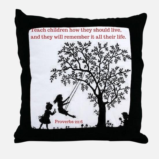 Proverbs 22:6 Throw Pillow