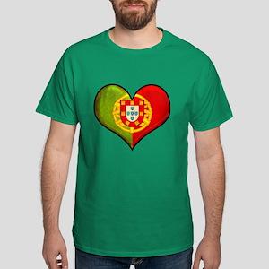 Portuguese heart Dark T-Shirt