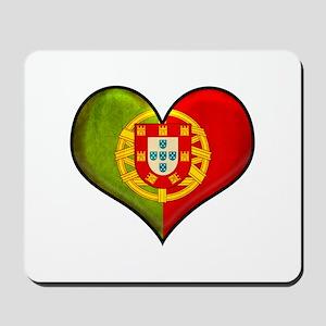 Portuguese heart Mousepad
