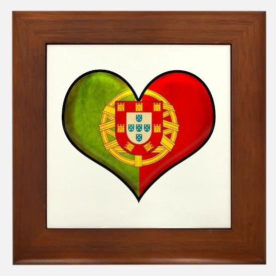 Portuguese heart Framed Tile