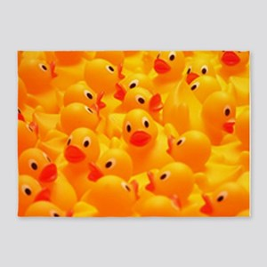 rubber duckies 5'x7'Area Rug