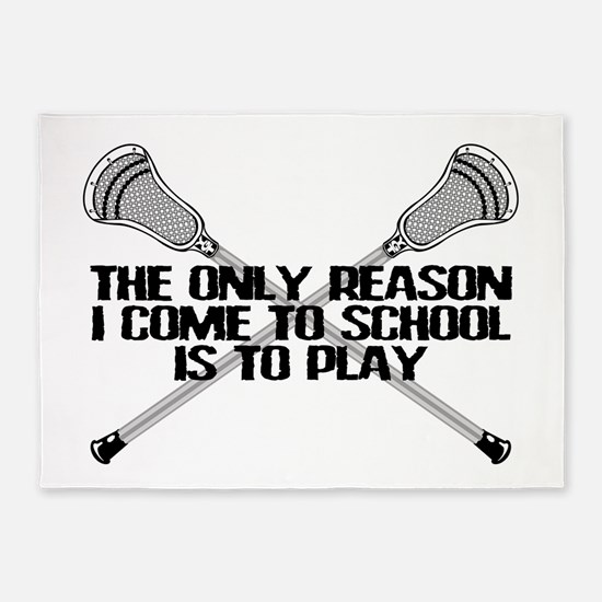 Lacrosse Only Reason 5'x7'Area Rug