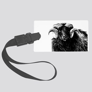 Black Ram Large Luggage Tag