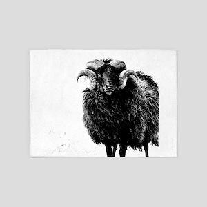 Black Ram 5'x7'Area Rug