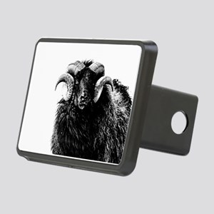 Black Ram Rectangular Hitch Cover