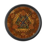 Celtic Pyramid Mandala Large Wall Clock