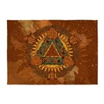 Celtic Pyramid Mandala 5'x7'Area Rug