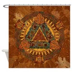 Celtic Pyramid Mandala Shower Curtain