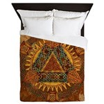 Celtic Pyramid Mandala Queen Duvet