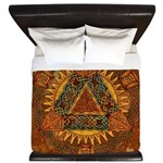 Celtic Pyramid Mandala King Duvet